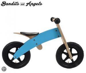 houten loopfiets blue bandit